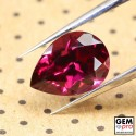 "2.56 carat Pear 9.9x7.1 mm Natural and Untreated Red ""Ampanihy"" Rhodolite Garnet Gemstone"