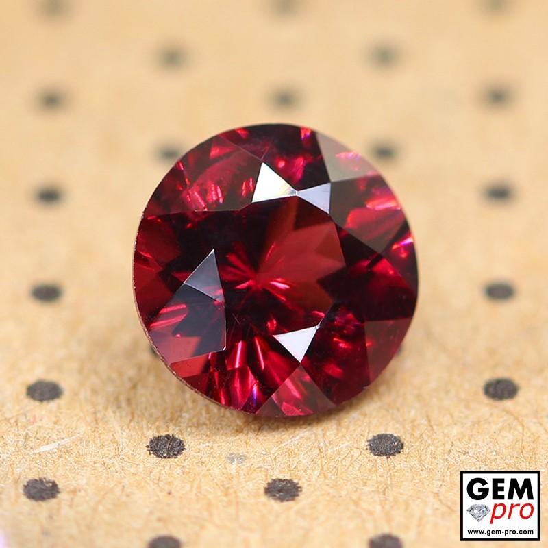 """1.88 carat Round 7.3x7.2 mm Natural and Untreated Pink """"Ampanihy"""" Rhodolite Garnet Gemstone"""