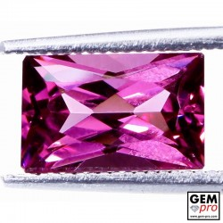 "2.91 carat Baguette 9.8x6.3 mm Natural and Untreated Pink ""Ampanihy"" Rhodolite Garnet Gemstone"