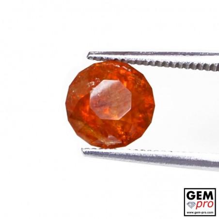 3.14ct Spessartine Garnet Round Cut 8 x 8 mm Natural Gemstone from Madagascar