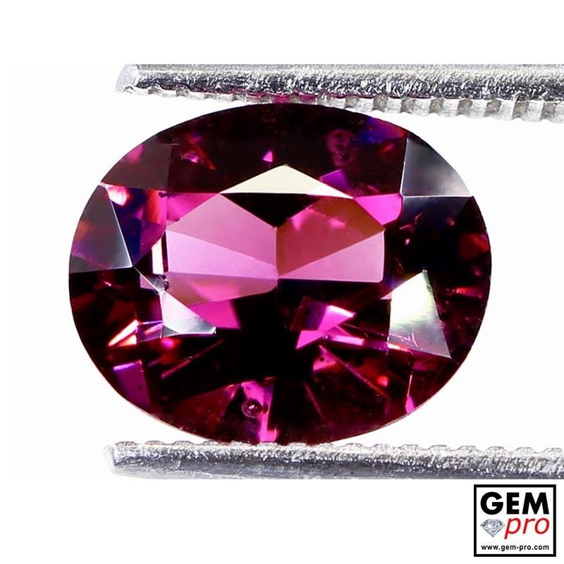 "2.69 carat Oval 9.5x7.8 mm Natural and Untreated Pink ""Ampanihy"" Rhodolite Garnet Gemstone"