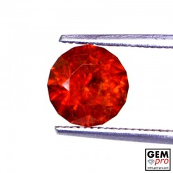 2.00 Carat Red Spessartite Garnet Gem from Madagascar Natural and Untreated