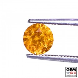 1.36 Carat Orange Spessartite Garnet Gem from Madagascar Natural and Untreated