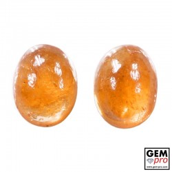 4.58 Carat Orange Spessartite Garnet (2 pcs) Gem from Madagascar Natural and Untreated