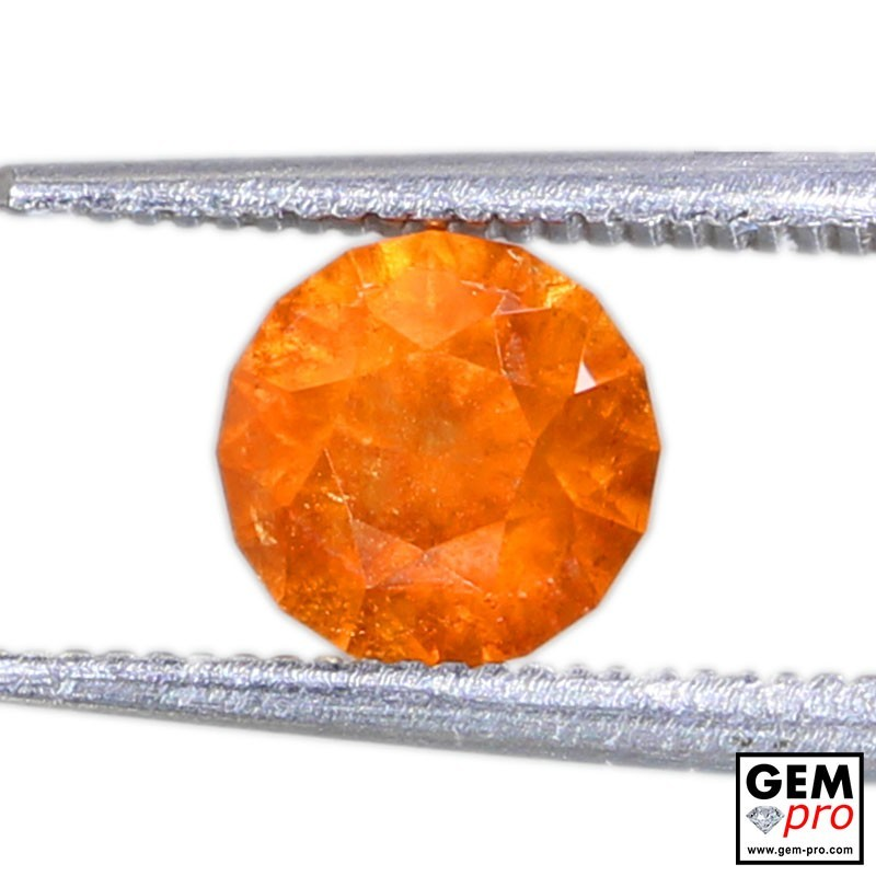 1.76 Carat Orange Spessartite Garnet Gem from Madagascar Natural and Untreated