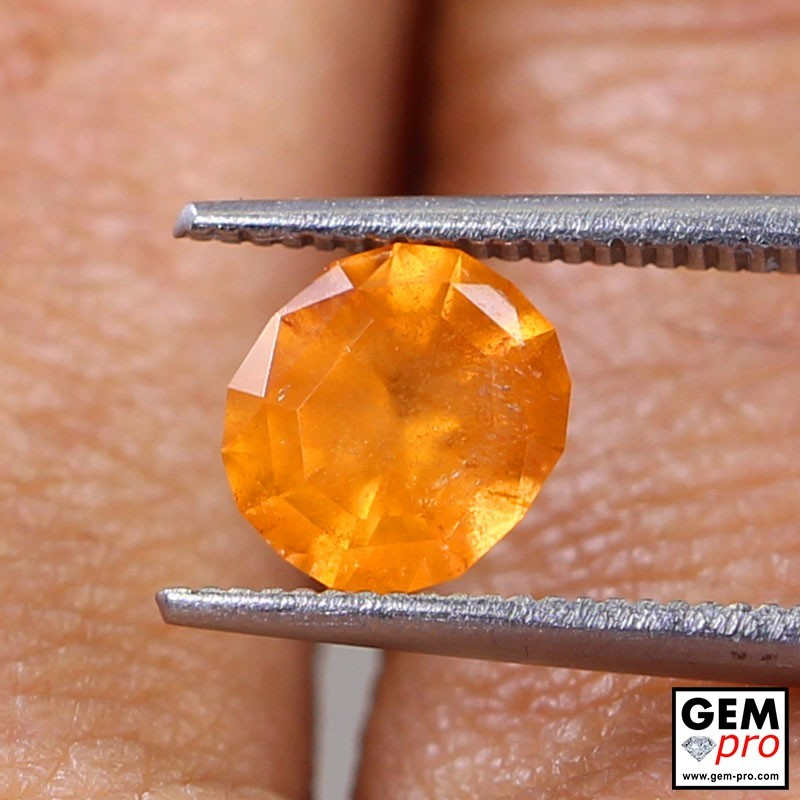 1.64 Carat Orange Spessartite Garnet Gem from Madagascar Natural and Untreated