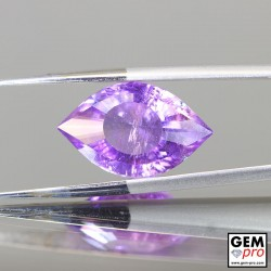 Violet Amethyst  7.7ct Cleopatra Eye Precision Cut from Madagascar Natural and Untreated Gemstone