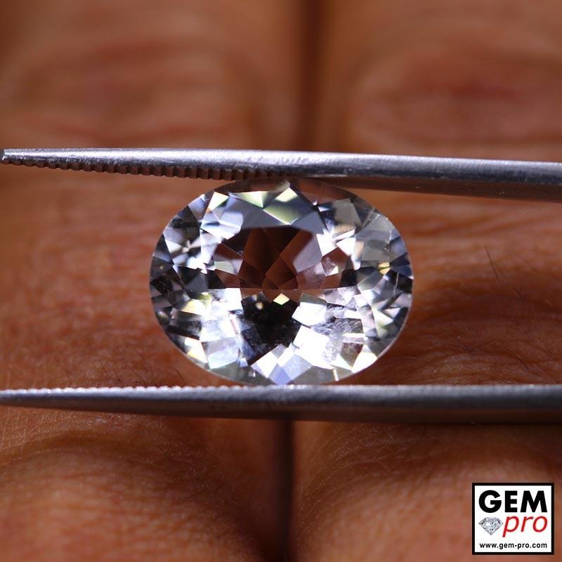 White Goshenite 6.48 ct Oval from Madagascar Gemstone