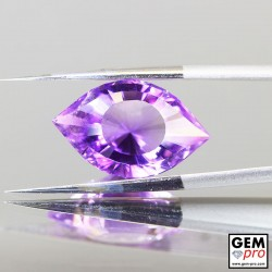 Violet Amethyst 7.3ct Precision Cut Cleopatra Eye from Madagascar Natural and Untreated Gemstone