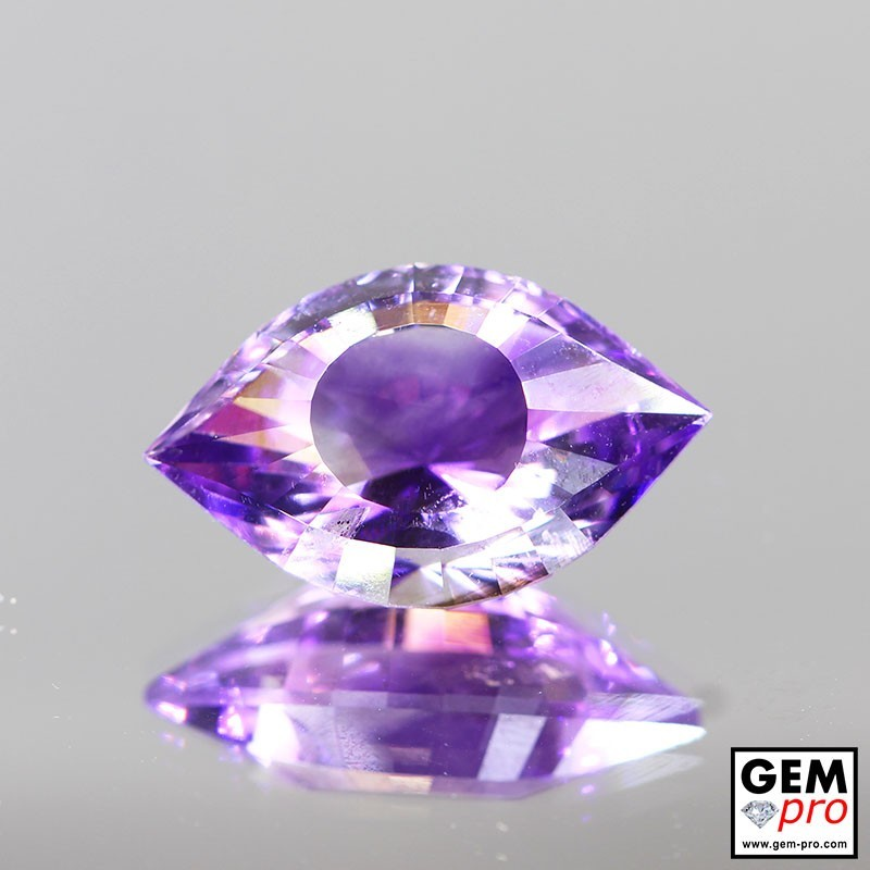 Violet Amethyst 8.1ct Cleopatra Eye from Madagascar Natural and Untreated Gemstone