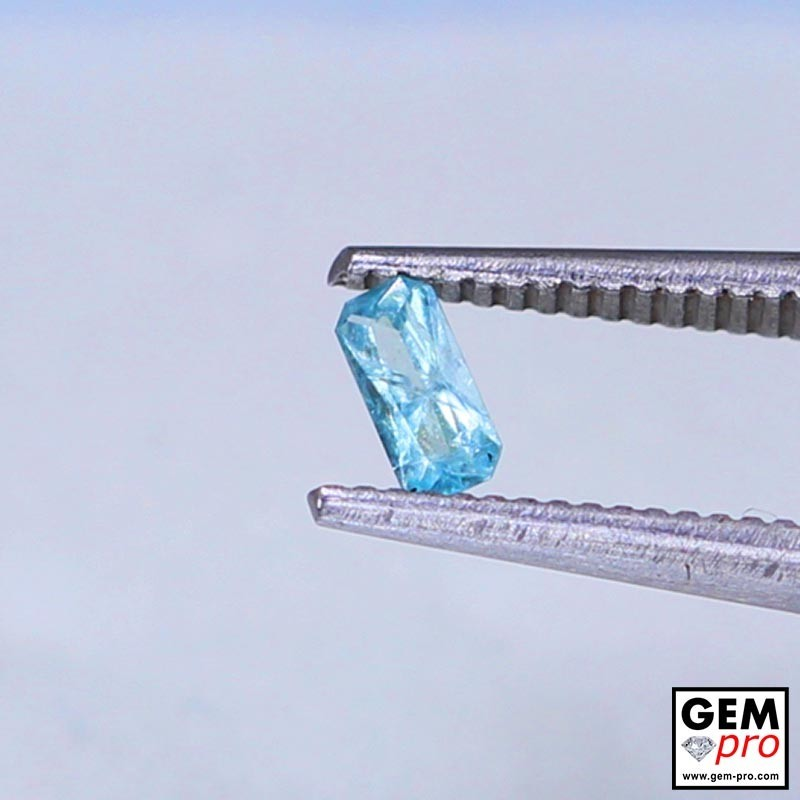 0.46 Carat Blue Grandidierite AAA Gem from Madagascar Natural and Untreated