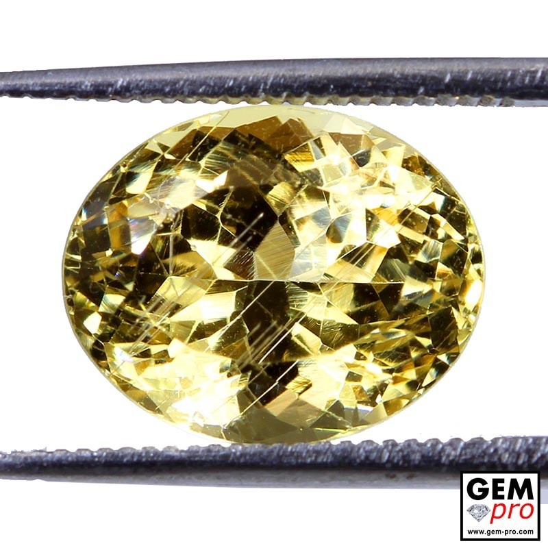 6.19ct Golden Beryl Oval Cut Natural Gemstone from Madagascar