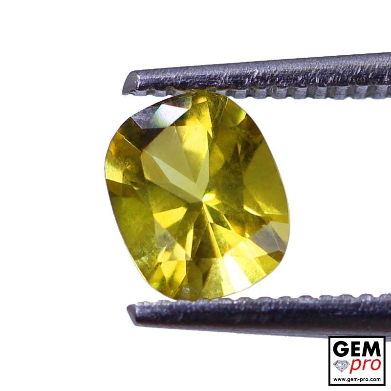 0.69 Carat Yellow Golden Beryl Gem from Madagascar