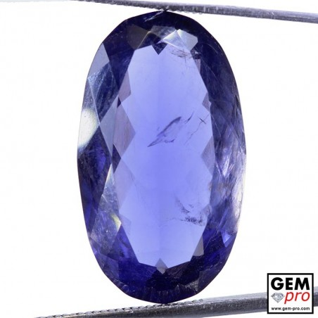 14.50 Carat Violet Blue Iolite Gem from Madagascar Natural and Untreated