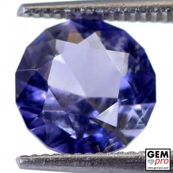 1.80 Carat Violet Blue Iolite Gem from Madagascar Natural and Untreated