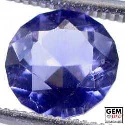 1.45 Carat Iolite Bleue Violet Gemme de Madagascar