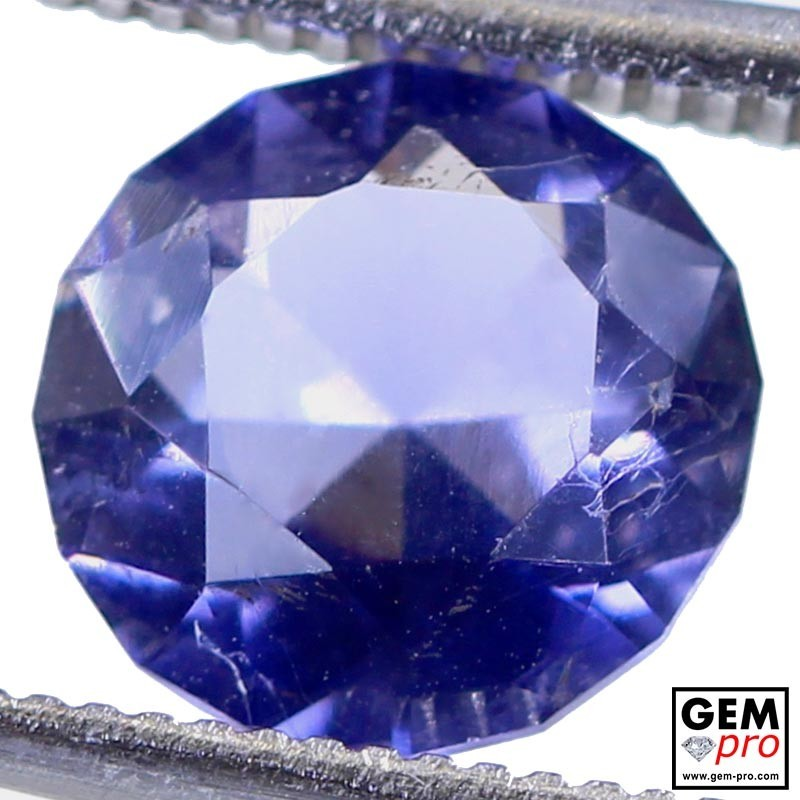 1.45 Carat Violet Blue Iolite Gem from Madagascar Natural and Untreated