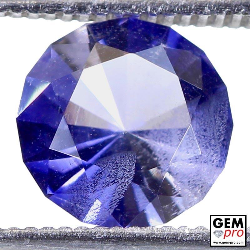 1.56 Carat Violet Blue Iolite Gem from Madagascar Natural and Untreated