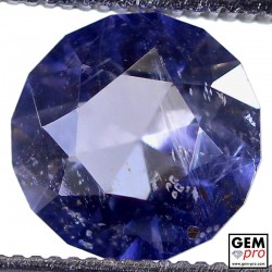 1.96 Carat Violet Blue Iolite Gem from Madagascar Natural and Untreated