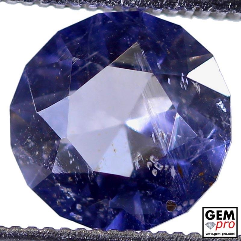 1.96 Carat Violet Blue Iolite Gem from Madagascar Natural and Untreated