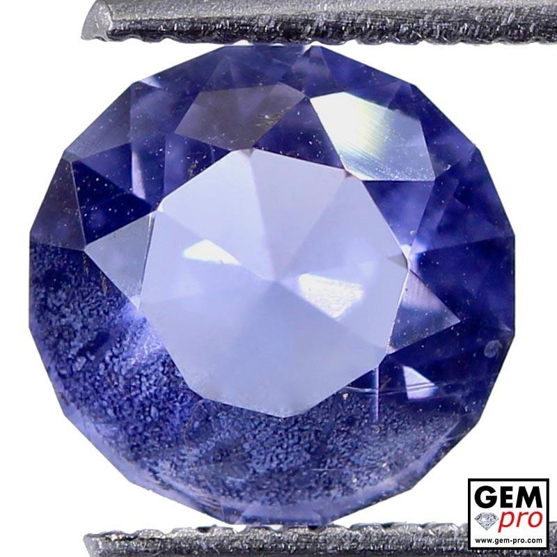 1.66 Carat Violet Blue Iolite Gem from Madagascar Natural and Untreated