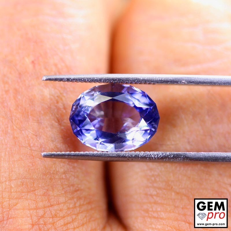 4.84 Carat Violet Blue Iolite Gem from Madagascar Natural and Untreated