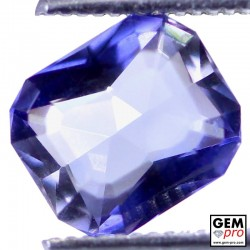 1.62 Carat Violet Blue Iolite Gem from Madagascar Natural and Untreated