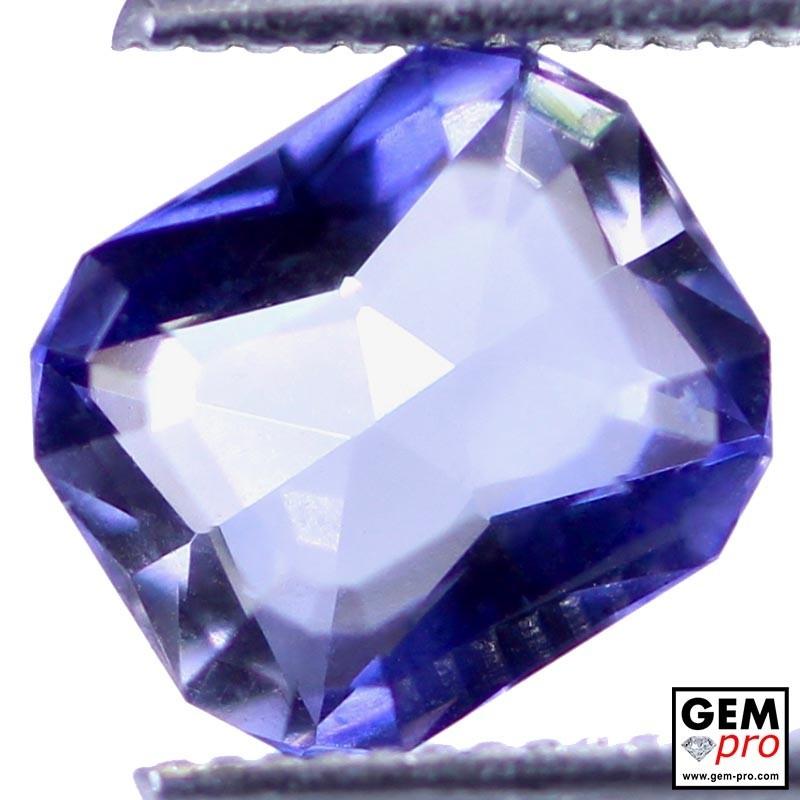 1.62 Carat Violet Blue Iolite Gem from Madagascar Natural and Untreated