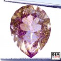 Amethyst inclusions Rutile 12.97ct Pear Cut from Madagascar Natural and Untreated Gemstone
