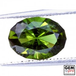 2.81ct Yellowish Green Kornerupine Gem from Madagascar Natural and Untreated