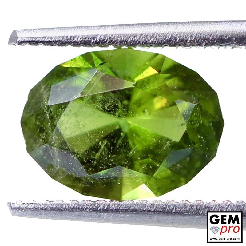 1.97 ct Yellowish Green Kornerupine Gem from Madagascar Natural and Untreated