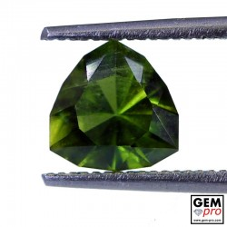 1.40 ct Yellowish Green Kornerupine Gem from Madagascar Natural and Untreated