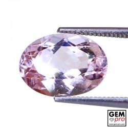 5.14ct Morganite Oval Cut Natural Gemstone from Madagascar