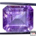 Amethyst inclusions 15.31ct Octagon Cut from Madagascar Natural and Untreated Gemstone