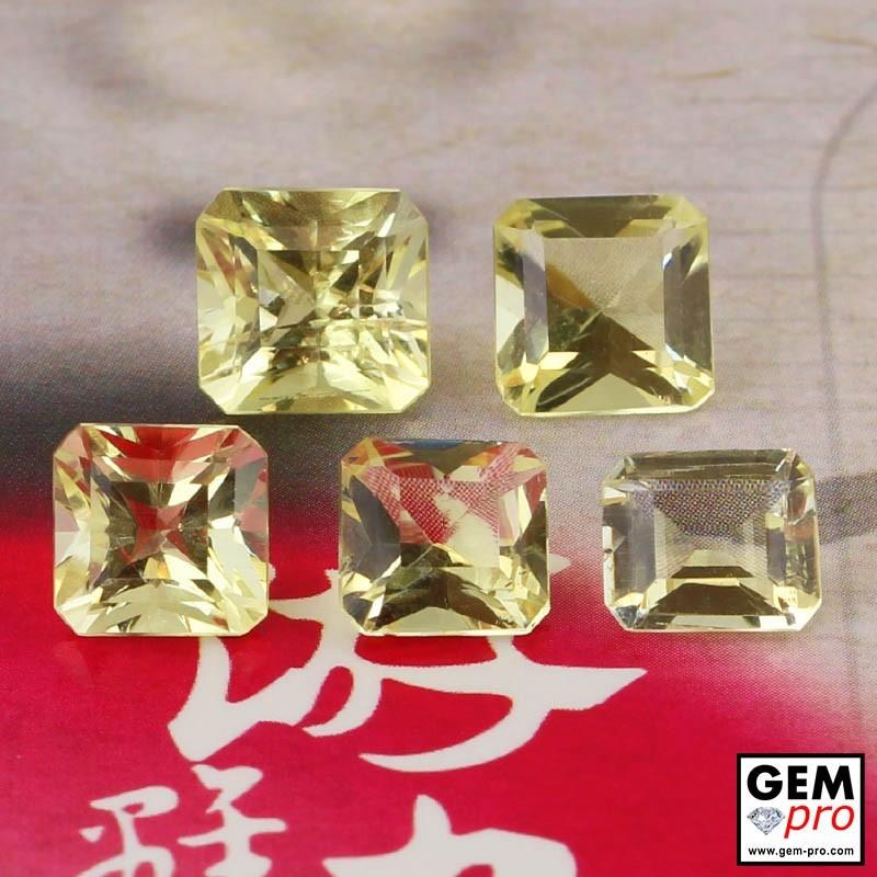 Yellow Orthoclase 7.08 ct Octagon from Madagascar Gemstone