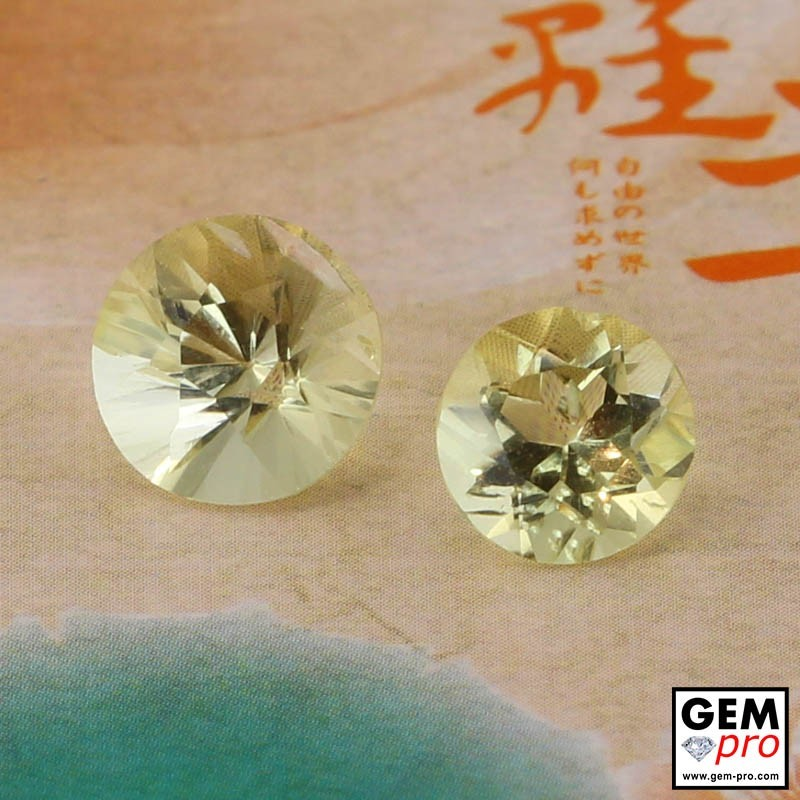 Yellow Orthoclase 2.97 ct Round from Madagascar Gemstone