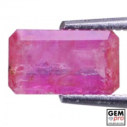 Pink Pezzottaite 1.58 ct Octagon from Madagascar Gemstone
