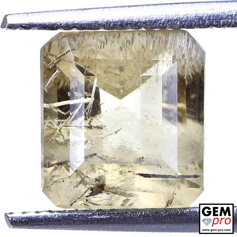 2.01ct Pollucite Octagon Cut 8 x 7 mm Natural Gemstone from Madagascar