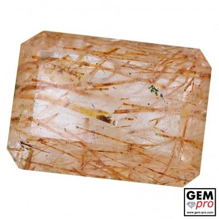 Colorless Rutile Quartz 60.80 Carat Octagon from Madagascar Gemstone