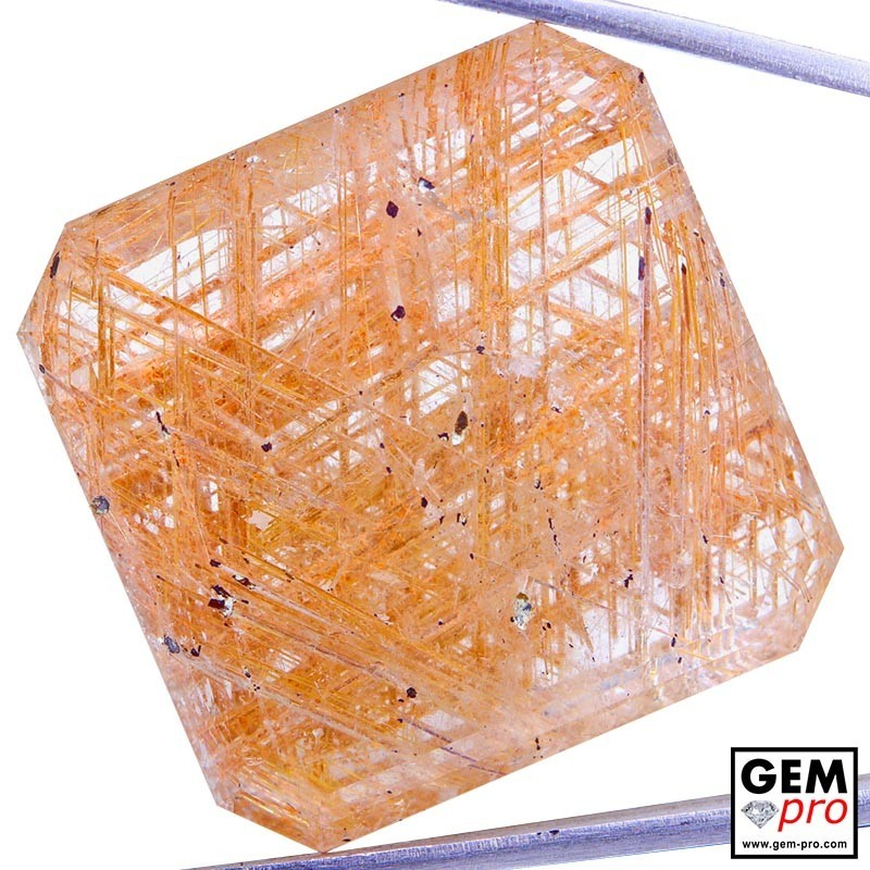 Colorless Rutile Quartz 58.74 Carat Octagon from Madagascar Gemstone