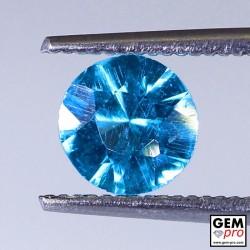 Blue Apatite 0.96 Carat Round Madagascar Gemstone