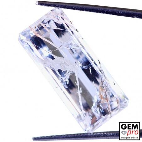 Colorless Hematite Quartz 15.90 Carat Octagon from Madagascar Gemstone