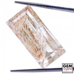 Colorless Hematite Quartz 23.76 Carat Baguette from Madagascar Gemstone