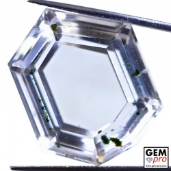 50.02ct Quartz with Chlorite inclusions Fancy Hexagonal Cut 27 x 21 mm Natural Gemstone from Madagascar