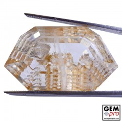62.75ct Quartz with Negative Crystal inclusions Fancy Step Cut 33 x 19 mm Natural Gemstone from Madagascar