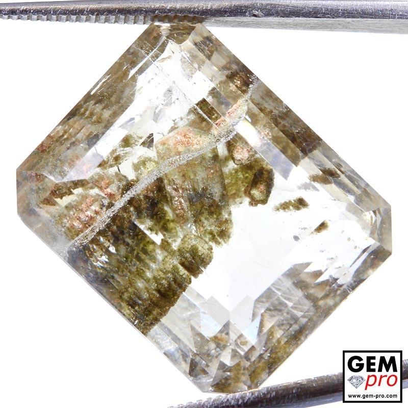 37.25ct Quartz with Negative Cystal & Hematite inclusions Octagon Step Cut 21 x 17 mm Natural Gemstone from Madagascar