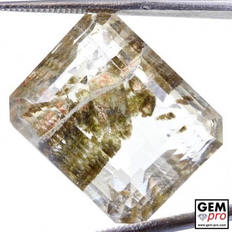 Negative Crystal in Included Quartz 37.25 ct Octagon from Madagascar Gemstone