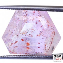 Amethyst Inclusions 17.46ct Hexagon Cut from Madagascar Natural and Untreated Gemstone