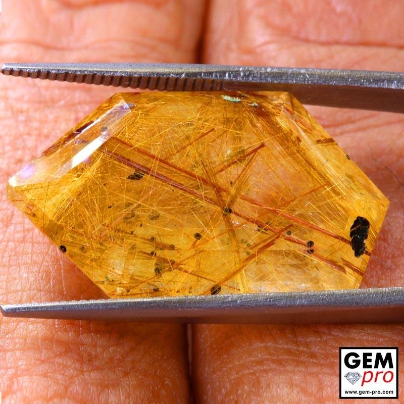 Colorless Rutile Quartz 23.74 Carat Fancy from Madagascar Gemstone