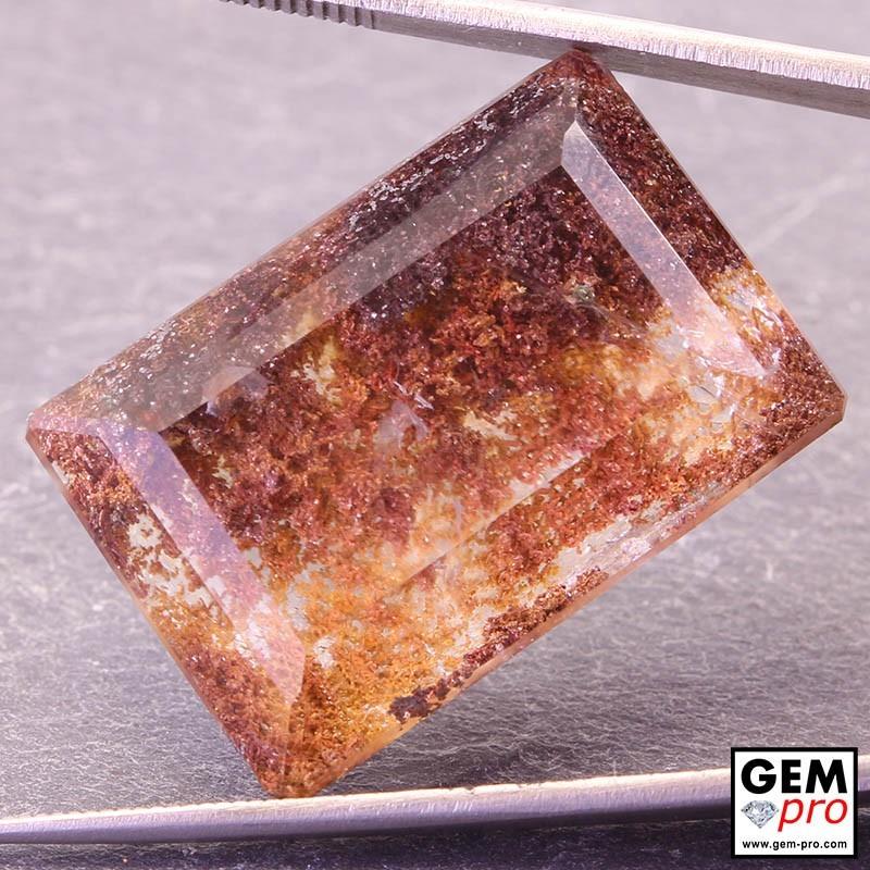 Colorless Hematite Quartz 45.34 Carat Octagon from Madagascar Gemstone